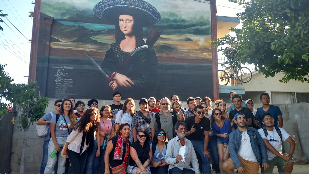 Pacoima mural tour led by Manny featuring Levi Ponce!