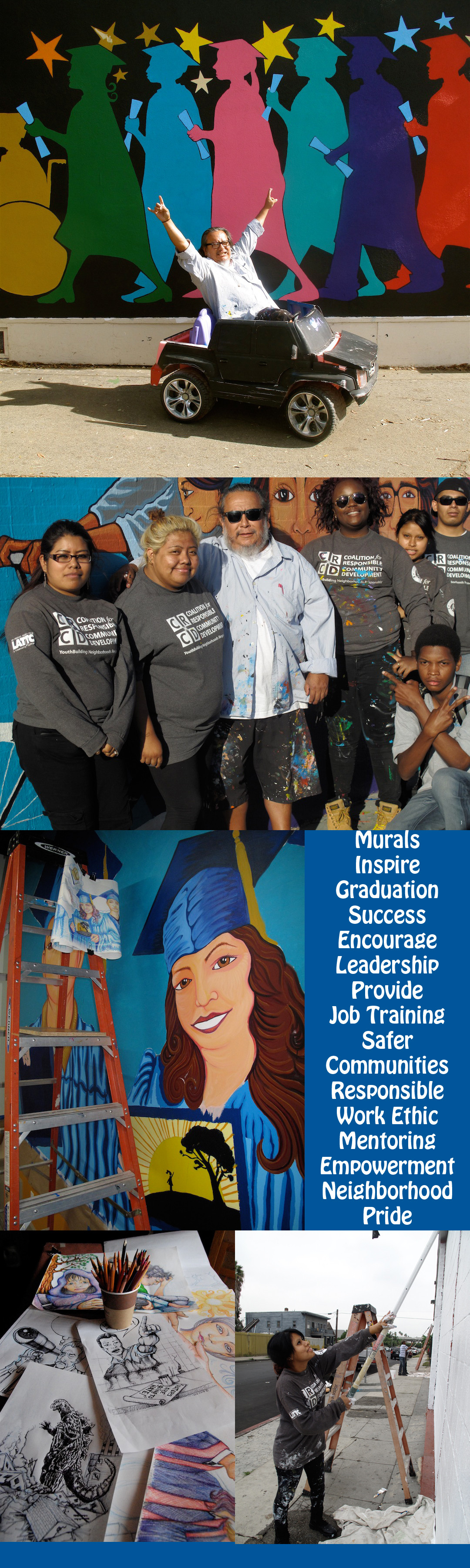 Murals inspire graduation success encourage youth for Telephone mural 1970
