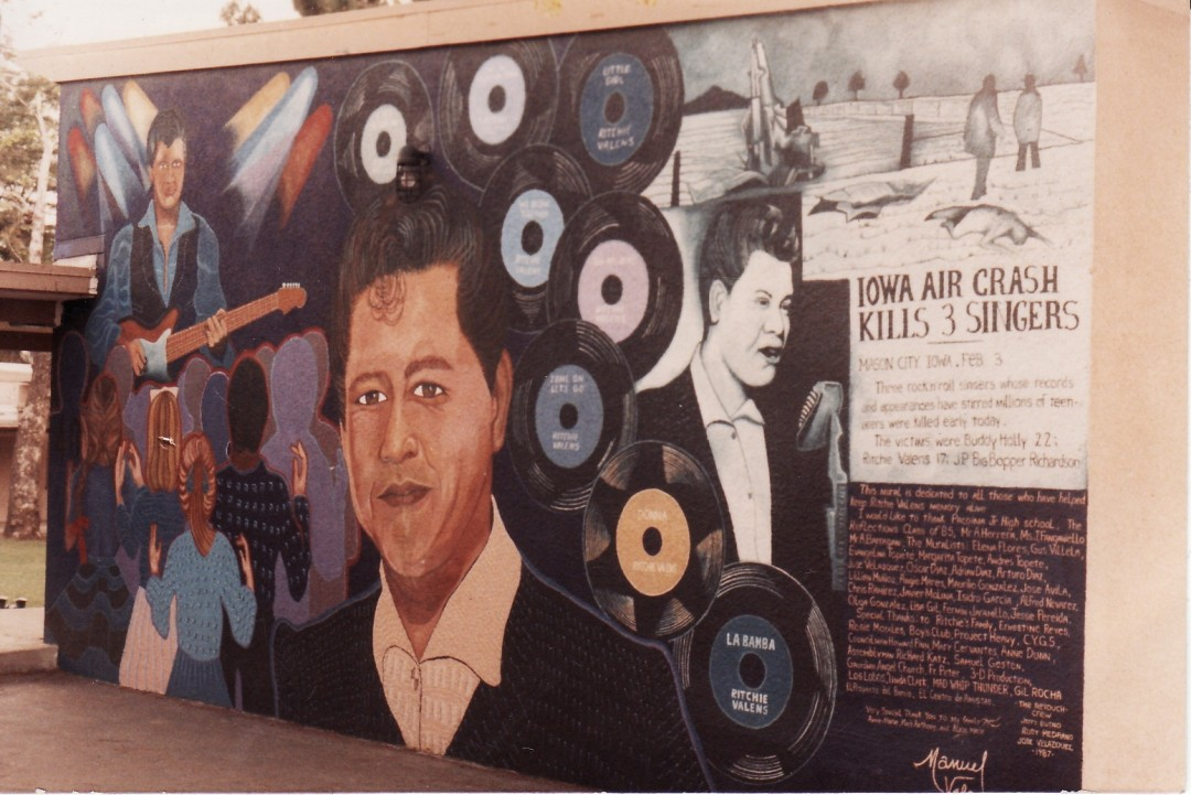 Ritchie valens mural pacoima middle school sylmar 7 11 for Telephone mural 1970