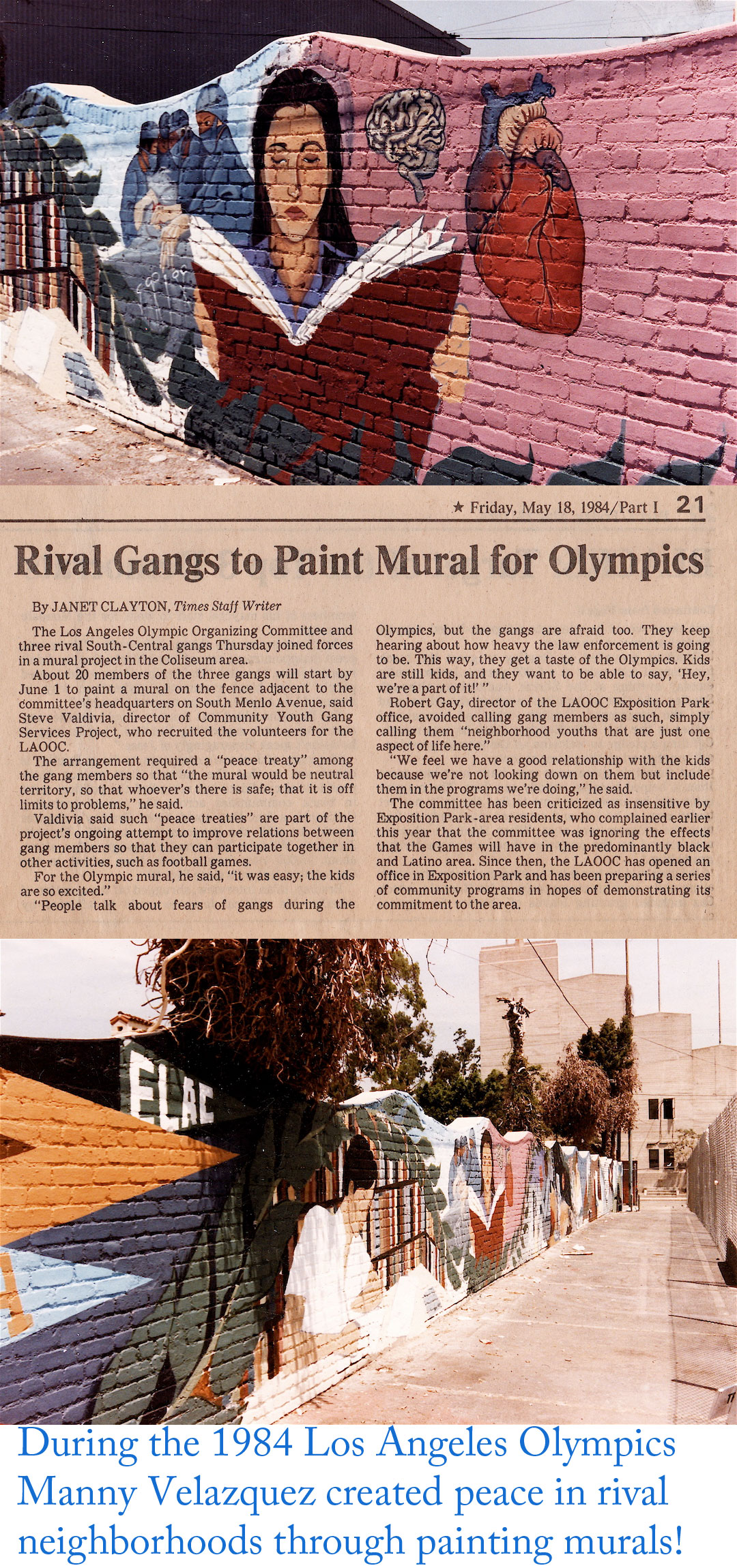 1984 Los Angeles Olympics Gang Intervention Mural, CRASH Units, Menlo Park