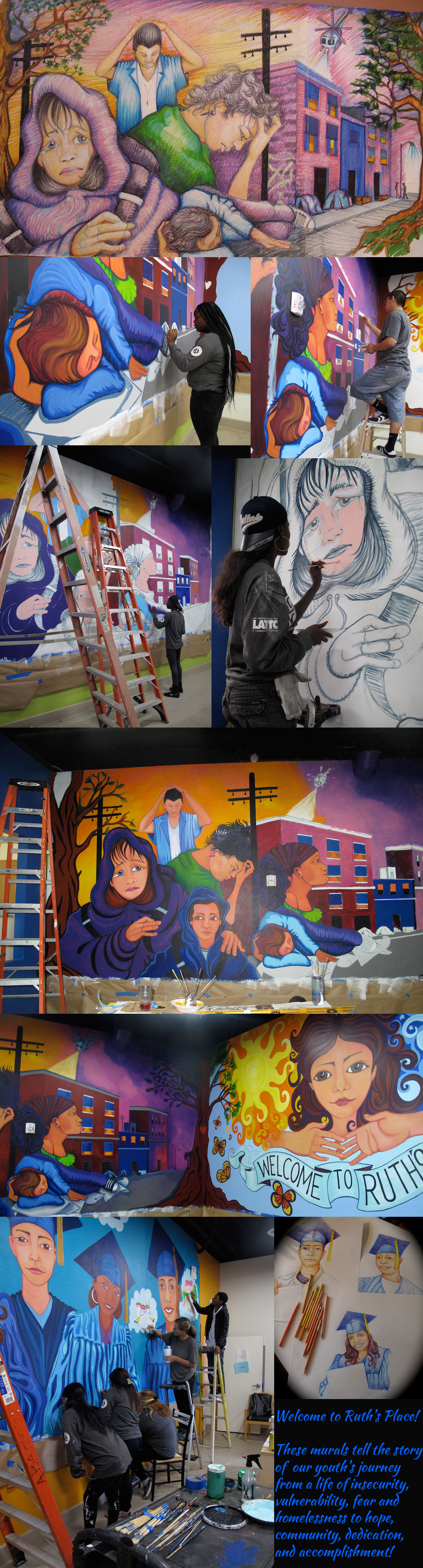 Mural in collaboration with the Coalition for Responsible Community Development (CRCD)